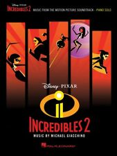 Incredibles 2 Sheet Music from Movie Soundtrack Piano Solo SongBook 000282473
