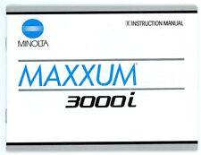 Minolta cámara manual de instrucciones Maxxum 3000i User manual en inglés (y77
