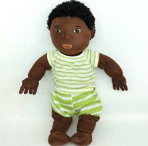 Ikea Lekkamrat baby doll plush soft toy Black hair