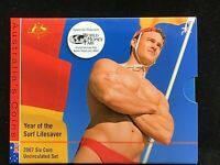 2007 Year of the Surf Lifesaver 6 coin UNC Mint Set - WMF Special Release
