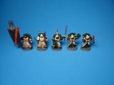 GW Warhammer 40K Dark Angels Company Veterans x5 Painted Plastic g45