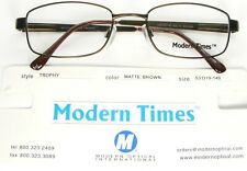 NEW MODERN TIMES TROPHY MATTE BROWN EYEGLASSES GLASSES FRAME 53-19-140mm