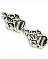30//90pcs Tibetan Silver Cross Charms Pendants Crafts Beads 11x21mm