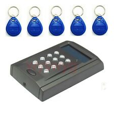 Free 5 Keyfobs 125KHz EM RFID Reader Access Controller Keypad Time Clock RS485