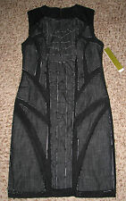 New With Tag Wmn Sz 8 Blk Nicole Mille Lined CB0059 Stretch Dress USA Made!!!