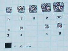 Cubic Zirconia * CZ * Princess Cut Squares * Loose Gemstone Lots * 2mm to 10mm