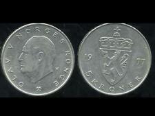 NORVEGE  5 kroner  1977  ( bis )