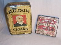 R. G. DUN & Between The Acts Cigar Tin - tobacco advertising