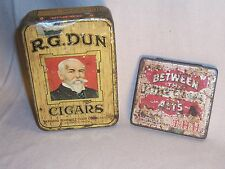 R. G. DUN & Between The Acts Cigar Tin - tobacco advertising