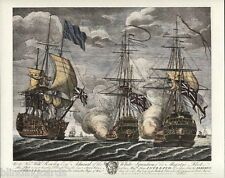 BATTLE of CAPE FINISTERRE (1747) Fine Art Print - Intrepid & Gloire, Lord Anson.