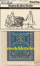 Hudson & Allen Oriental Rug Woven Cloth Pale Blue