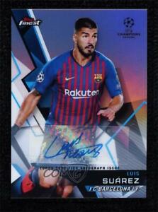 2018-19 Topps Finest UEFA Champions League Luis Suarez #84 Auto