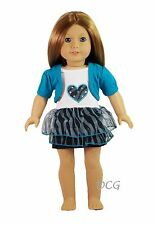 "AFW STUDDED HEART DRESS for 18"" American Girl Dolls Outfit Gown Clothes  NEW"