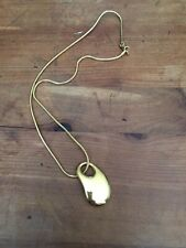 Monet Gold Tone Necklace With Abstract Pendant