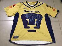 Men's Puma PUMAS UNAM Sz M Jersey 2009-2010 gold Shirt MEXICO Soccer Liga MX
