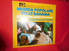 S. B. CHARTERS Instrumental music of Bahamas LP ITALY 1976 MINT-