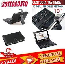 COVER 10 POLLICI CON TASTIERA CON USB CUSTODIA UNIVERSALE PORTA TABLET PAD