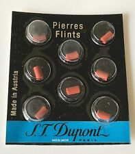 S.T. Dupont Red Lighter Flints Pack of 8 For Ligne 8, Line D, Liberte, # 650