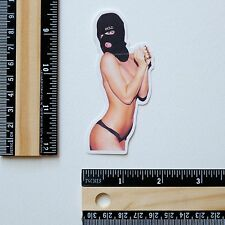 pin up SM mask money slave nude hottie girl hentai Skateboard Decal sticker 2802