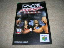 WCW / NWO REVENGE - Rare NINTENDO 64 Instruction Manual