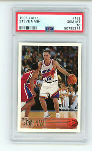 1996-97 Topps Steve Nash #182 PSA 10 GEM MINT Rookie RC Basketball Card Phoenix