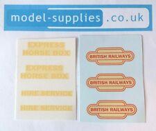 Dinky 581 981 British Railways Horse Box Reproduction Waterslide Transfers Set