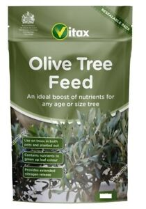 Vitax Organic Olive Tree Fertiliser Plant Feed Boosts fruiting Reseal Pouch 900g