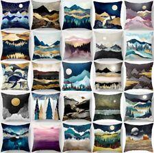 "Cushion Cover Blue Landscape Abstract Home Decor Decorative PILLOW CASE 18x18"""