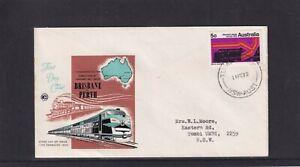 Australia 1970 Wesley Cover Service Sydney-Perth Standard Gauge Railway FDC