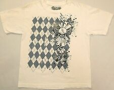 Helix Youth T-shirt XL extra Large skull Star skateboard sport white 100% cotton