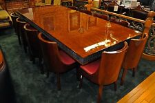 French Art Deco Dining Set with Wrought Iron Base, circa 1920 #7028