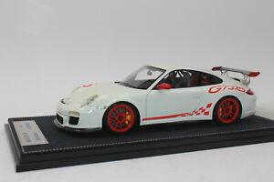 Fronti Art F010-02  Porsche 911 GT3 RS weiß rot Limited 1:18 Rennauto NEU OVP