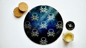 Skull Bones Chopping Board Worktop Saver Serving Platter Cake Plate Steampunk