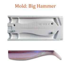 "Mold Big Hammer Swimbait Tail Shad Soft Plastic Fishing Lure Bait Making 4"""