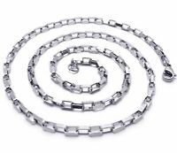 """Stainless Steel 2mm Wide Mens Womens 20"""" 22"""" inch Long Chain Silver Necklace New"""