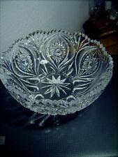 Schüssel Schale Glas/Kristall rund Schleuderstern Schleuderstern alt ~exzellent