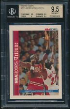 1992-93 Hoops #TR1 Michael Jordan Clyde Drexler Tribune NBA Championship BGS 9.5