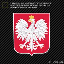 Polish Coat of Arms Sticker Decal Self Adhesive Vinyl Poland flag POL PL
