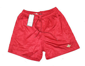 Gucci Men Swim Shorts New Bee embroidery Swimwear GG nylon with bee RED