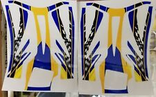 RTR Cheetah Aeolos chassis decals-Blue/Yellow/Checkered