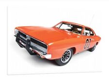 1969 Dodge Charger General Lee 30x20 Inch canvas Dukes of Hazzard PICTURE