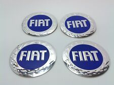 NEW 4pcs Decal Alu Stickers for Wheel Centre Cap Hubs for FIAT - 60mm