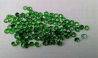 Natural Tsavorite Green Garnet Round Faceted Cut 0.90mm to 4mm Loose Gemstone