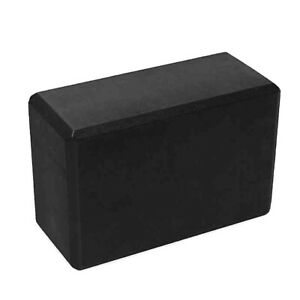 Black Foam Yoga Block Prop for Stretching, Pilates and Exercise (4x6x9 Inches)
