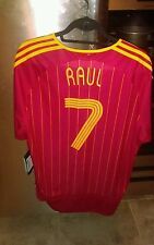 2006 world cup Adidas Spain soccer jersey #7 Raul