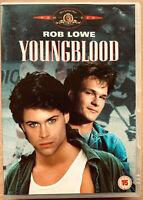 Youngblood DVD 1096 Hielo Hockey Sports Película con / Rob Lowe + Patrick Swayze