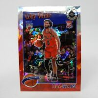 2019-20 NBA Hoops Premium Stock Coby White Red Cracked Ice Tribute #295 RC