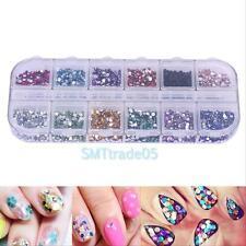 3600pcs Nail Art Rhinestones Glitter Decoration 3D Tips Diamond Gems Wheel 1.5mm