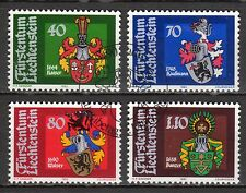 Liechtenstein - 1982 Coats of Arms - Mi. 793-96 VFU