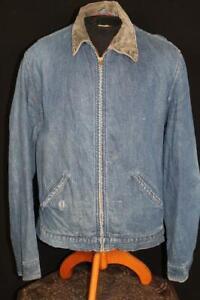 RARE VINTAGE 1950'S PENNY'S BIG MAC BLANKET LINED BLUE DENIM JACKET SIZE LARGE